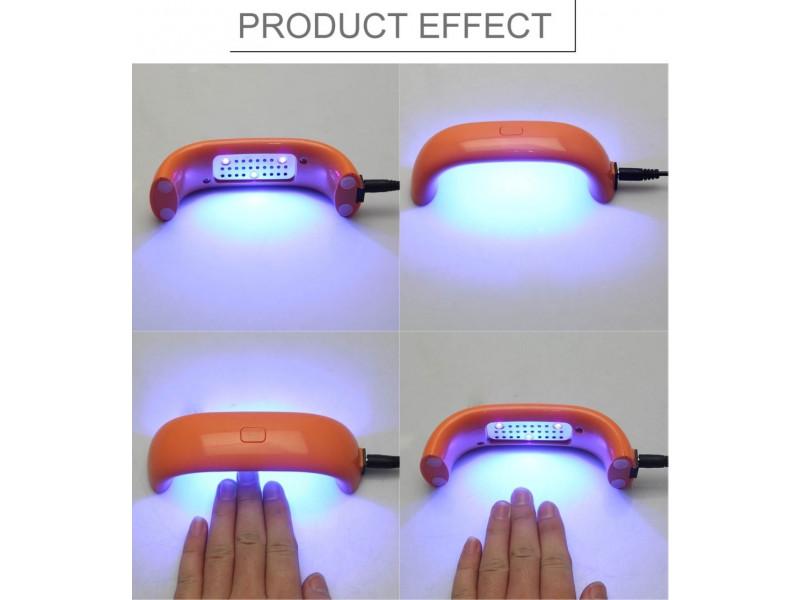 mini LED lámpara UV para uñas gel de secado de gel de secado ...